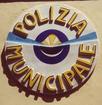 ceramic police sign, Castelli, Abruzzo, Italy