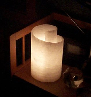 alabaster lamp, Volterra