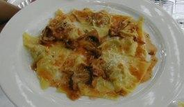 ravioli at Lanterna Verde restaurant