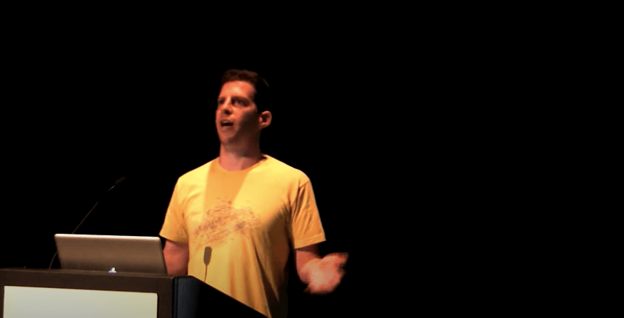 Adam Leventhal speaking at ZFS Day 2012