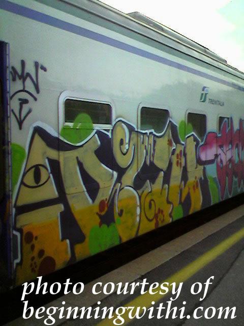 Italian train graffiti