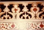 detail of the fence surrounding the upper mausoleum, Taj Mahal, ~1980