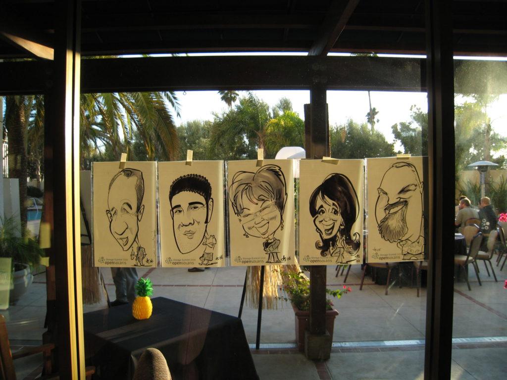 caricatures of Sun storage community members
