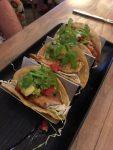 3 tacos, elegantly served