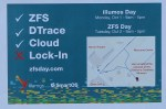 flyer advertising our event: ZFS, Dtrace, cloud - no lock-in