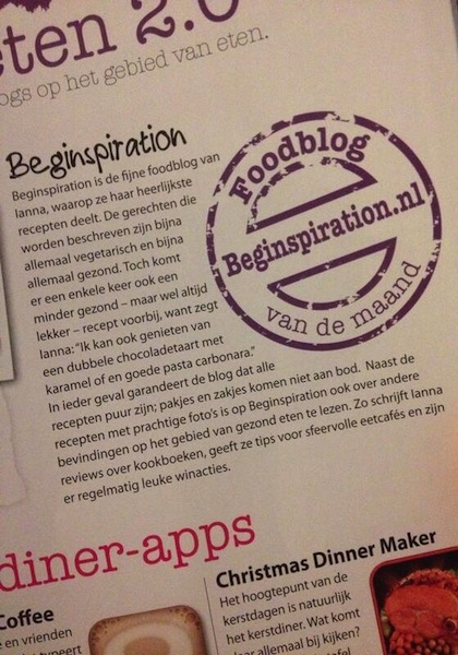 Beginspiration in de media -- Gezond Eten Magazine