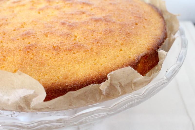 Citroen polenta cake met lavendel extract