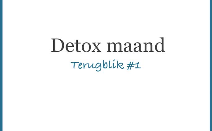 Detoxmaand Terugblik 1