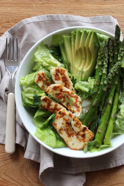 Groene salade asperges recept