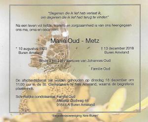 Marie Oud-Metz
