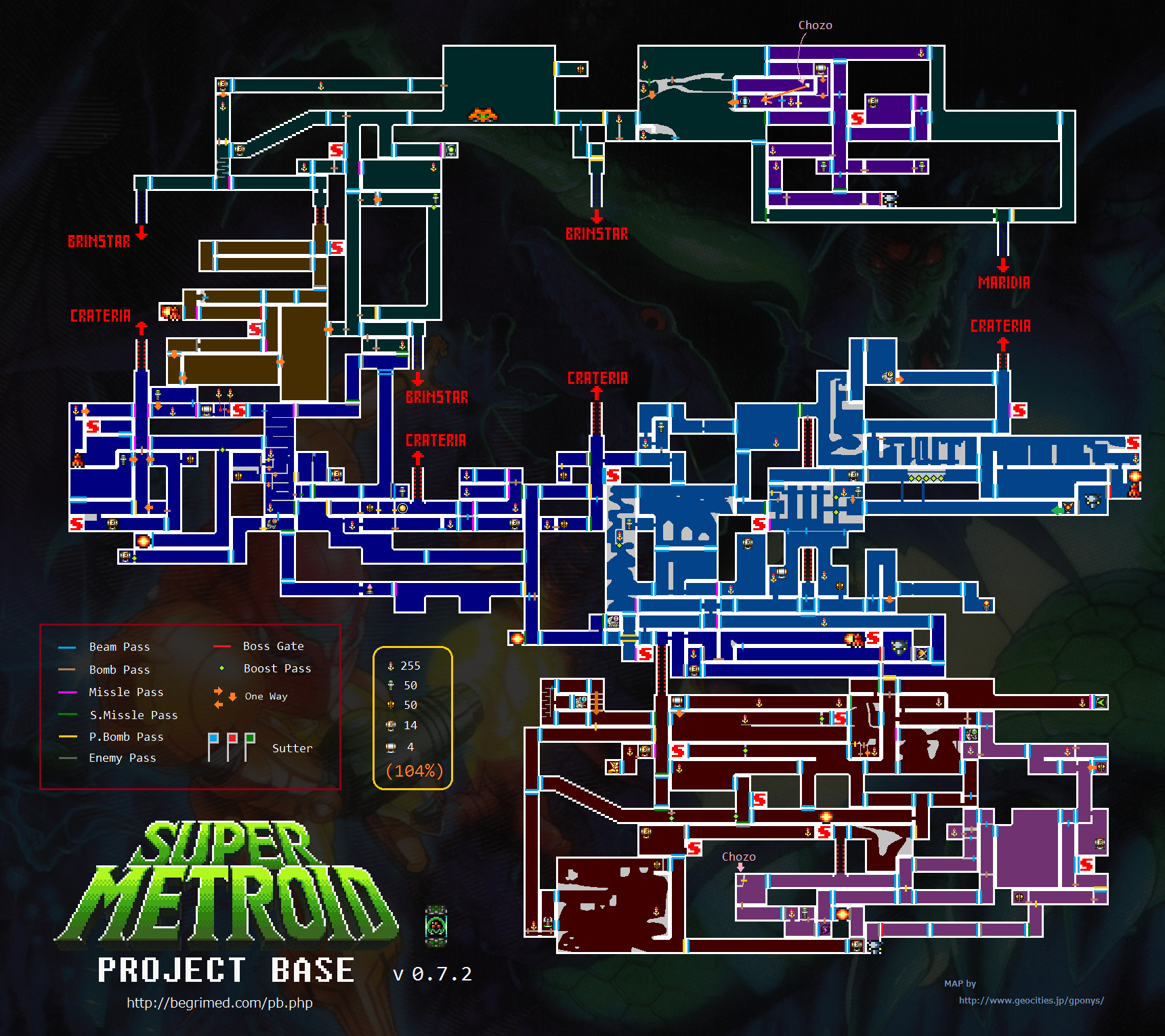 map for metroid     project base 0 7 2 map by gponys