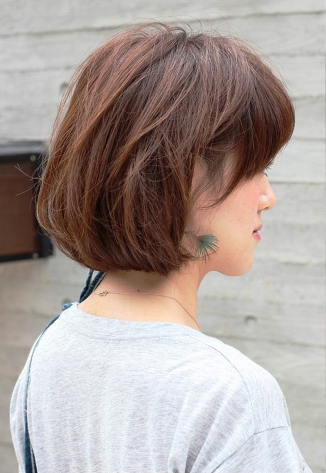 side view of short messy bob hairstyle hairstyles ideas