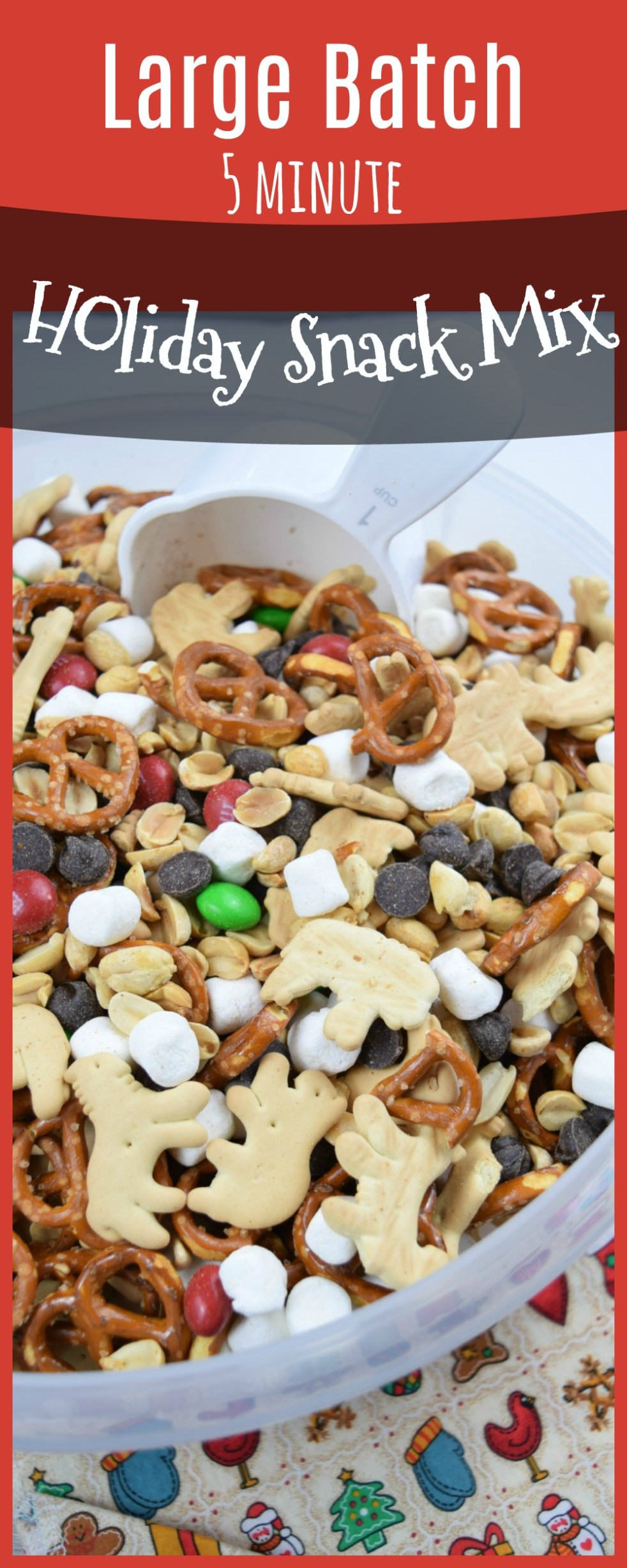 large batch holiday snack mix