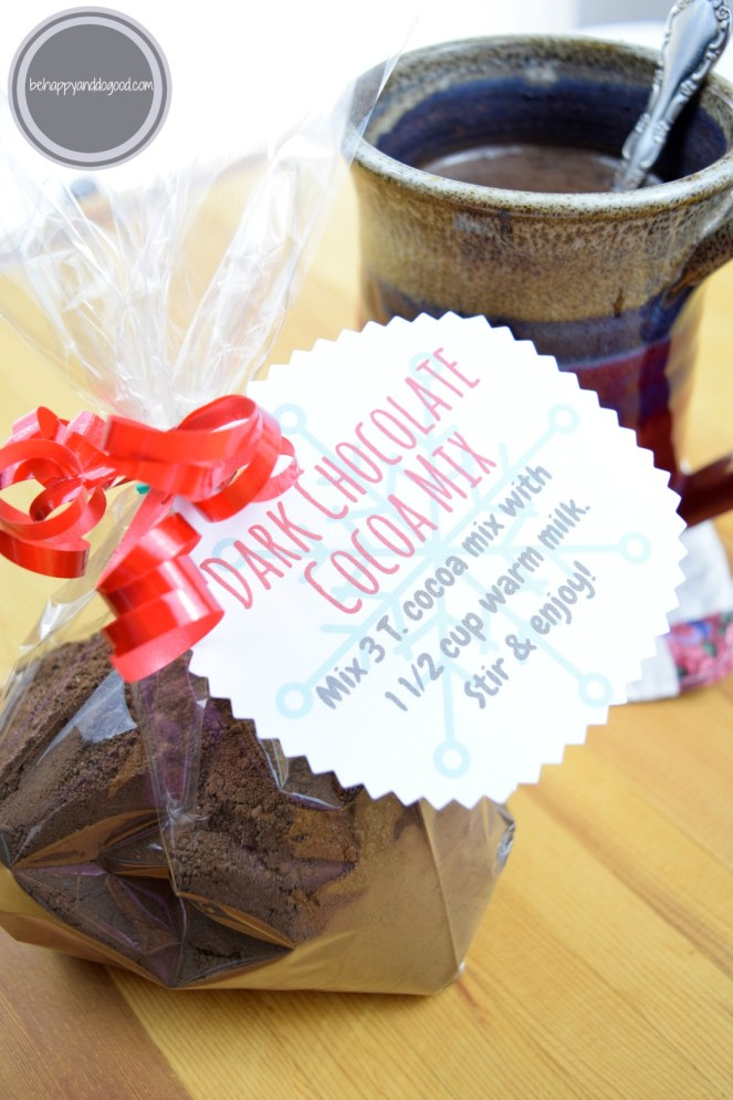 The BEST Homemade Dark Chocolate Cocoa Mix: Perfect for Gifts! (gift tag included)