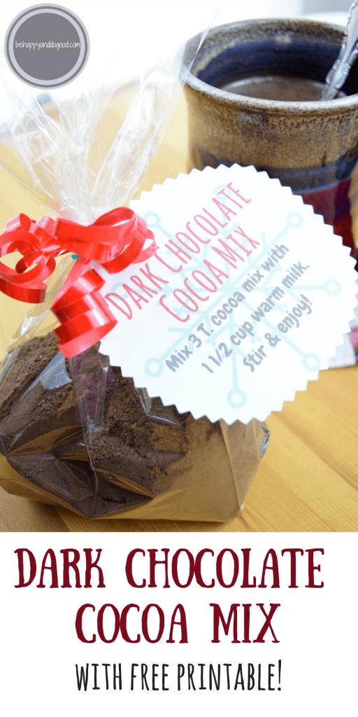 homemade dark chocolate cocoa mix