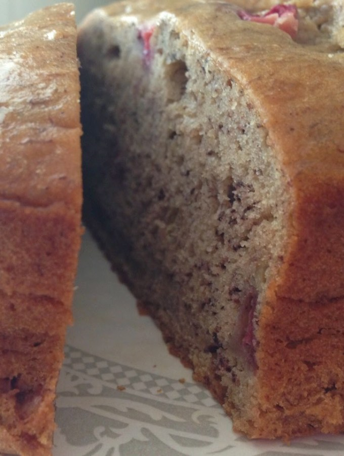 Joy the Baker's Brown Butter Banana Strawberry Bread…and eating deliciously!