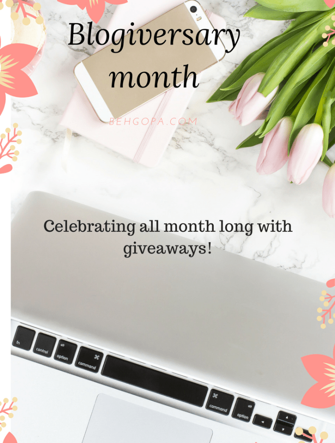 It's my blogiversary month (first of four giveaways)