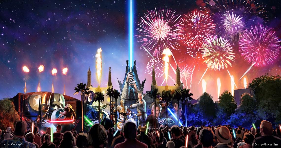 Star Wars Fire Works, Image: Disney