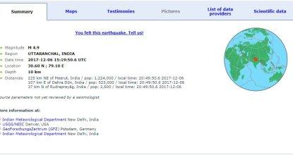 Breaking News: Earthquake at National Capital Delhi 40 Behind History