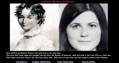 2 Unsolved Similar Murders - 157 Years Apart 30 Behind History