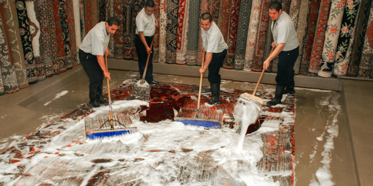 rug cleaning by hand washing