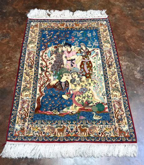 Handmade Pictorial Persian Rug