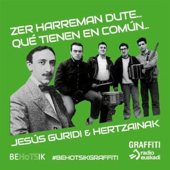 #BehotsikGraffiti Jesús Guridi Hertzainak