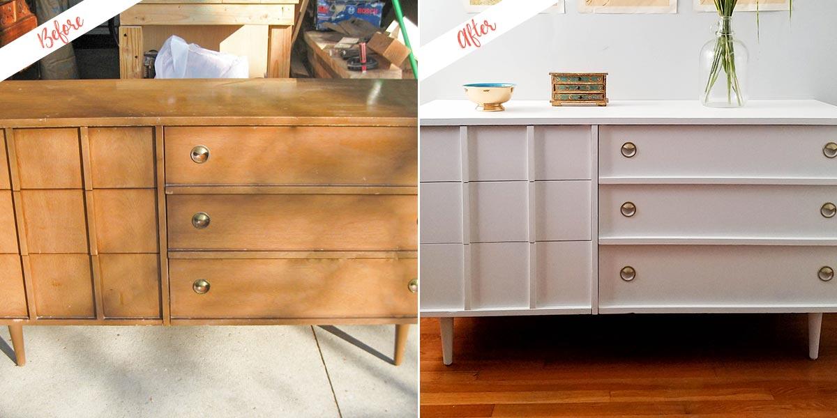 Mid Century Modern Dresser Redesign With Fresh Paint Behr