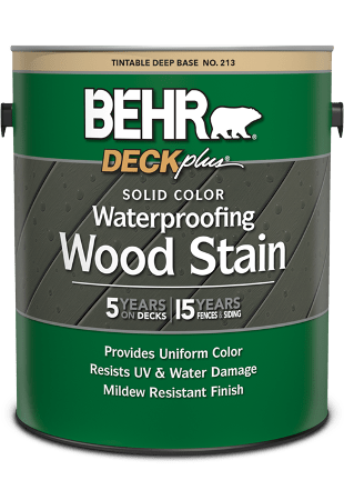 https www behr com consumer products wood stains finishes cleaners and strippers solid color wood stains behr deckplus solid color waterproofing wood stain