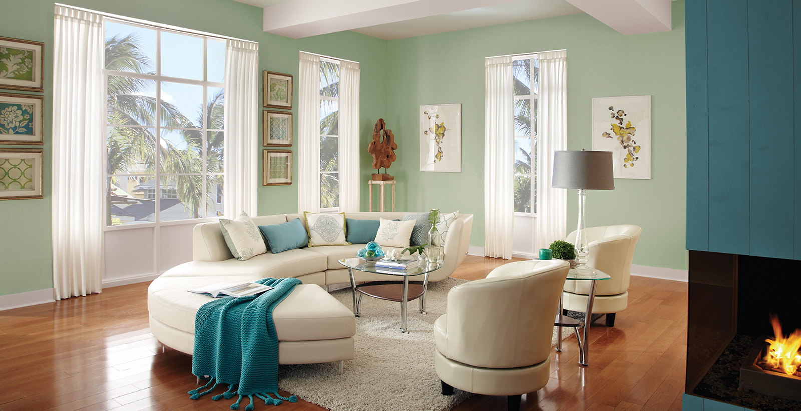 Calming Living Room Ideas and Inspirational Paint Colors ... on Room Painting id=91723