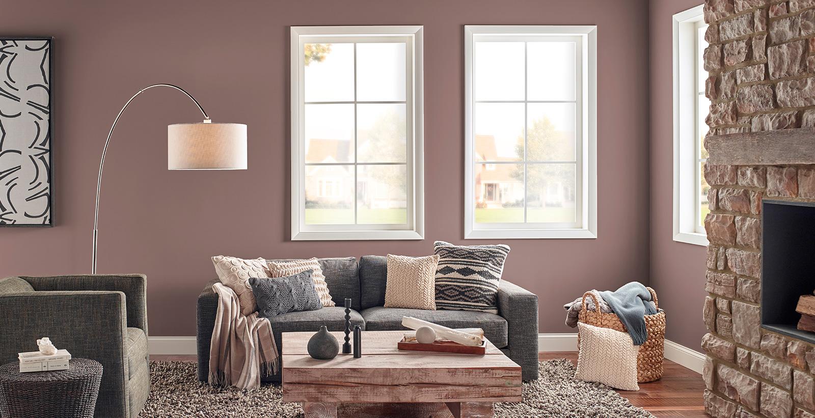 Rustic Chic Living Room Purple Living Room Gallery Behr