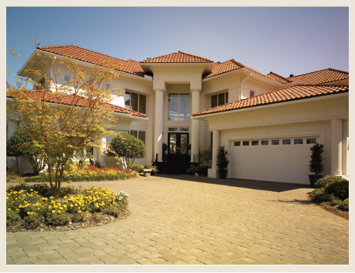 stucco home red tile roof colorfully behr