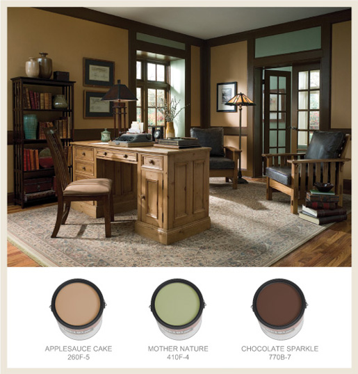 Arts and crafts living room paint colors for Craft room paint colors