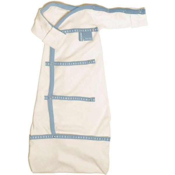 blue baby-pod bamboo Sleep pod organic baby clothing organic cotton