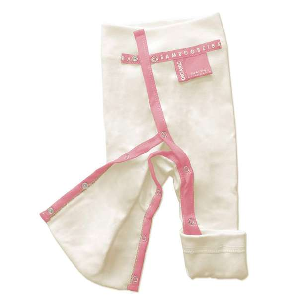 rose pink light red color baby trousers for girls - fully opening legs