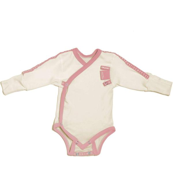baby girl pink Baby Grow wraparound sensitive