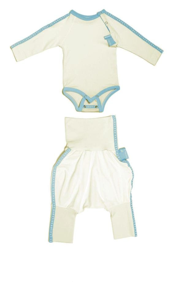 Seamless and comfortable baby grow without labels.