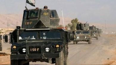 """صورة """" القوات العراقية """"  تتقدم نحو تلعفر لتحريرها من تنظيم الدولة الإسلامية"""