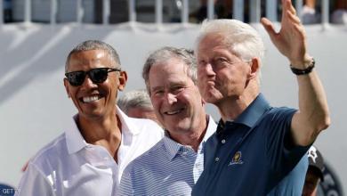 صورة ثلاثة رؤساء أميركيين في لقطة لطيفة