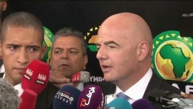 """صورة رئيس الاتحاد الدولي لكرة القدم """"الفيفا"""" في المغرب"""