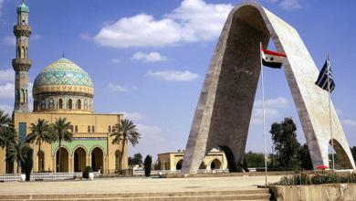 صورة العثور على جثة امرأة مقيدة الايدي وعليها اثار خنق في بغداد.