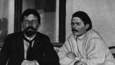 صورة تشيخوف و غوركي