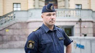 صورة مدير جديد للشرطة في السويد .
