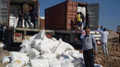 صورة اتلاف خمسة اطنان من المواد المنتهية الصلاحية بحملة تفتيش في الفلوجة.