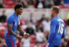 صورة تغلب منتخب إنكلترا بتشكيلة بديلة 1-صفر على رومانيا.