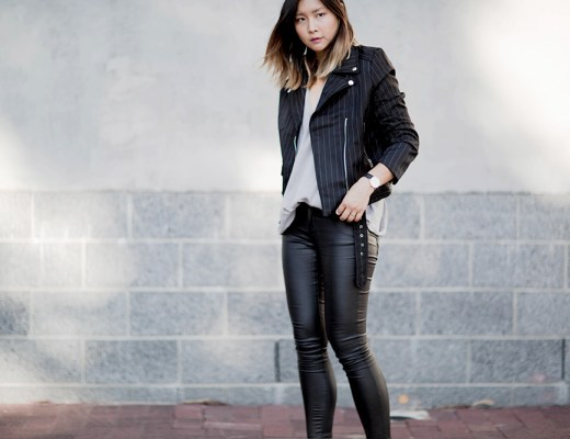 pin-stripe-biker-jacket-draped-crossover-top-blogger-streetstyle