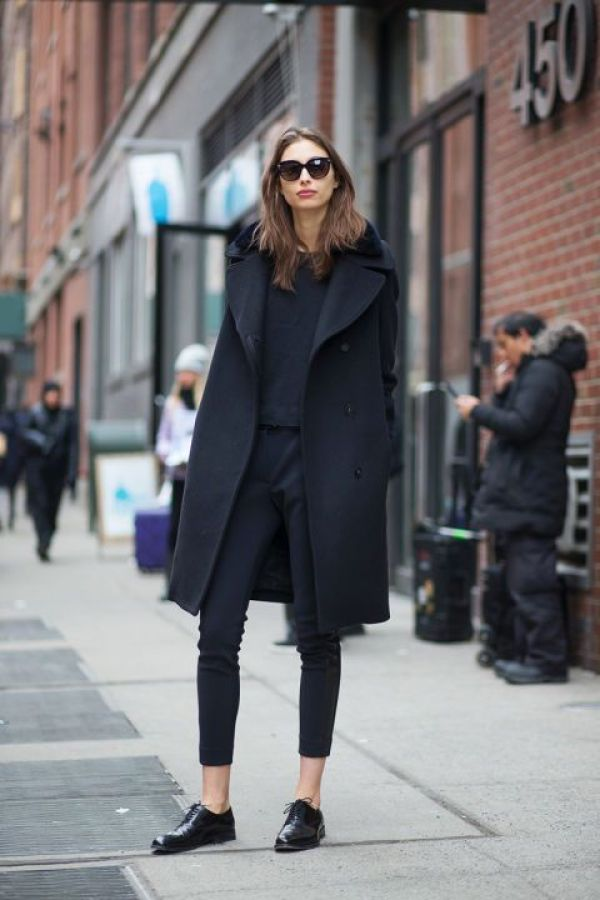 10 How to wear a coat - black on black