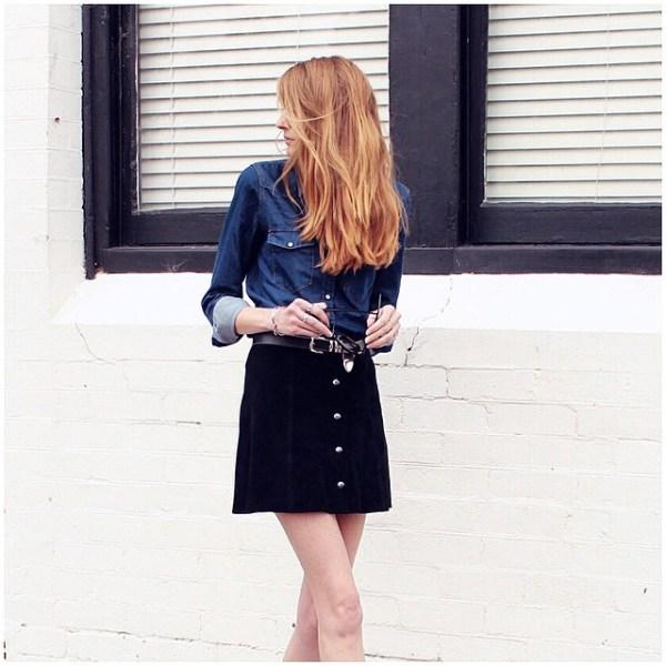 Amy Hamilton Button Front Skirt