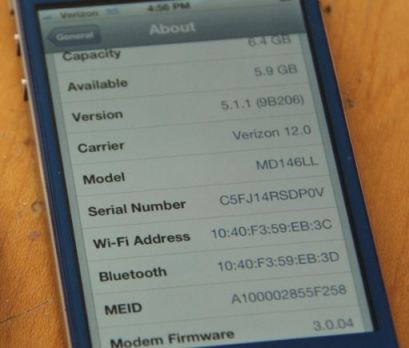 Blacklisted IMEI iPhone Fix