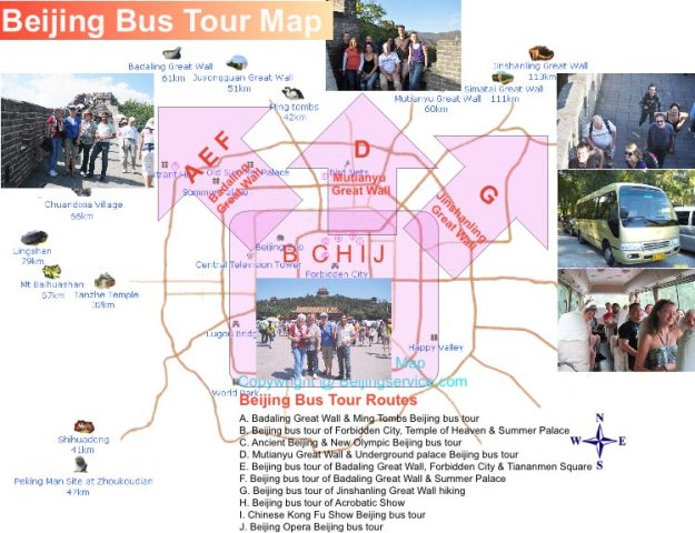 Beijing Bus Tour Map   Beijing Join In Bus Tour Map and Public Bus     Beijing Join In Bus Tour Map